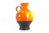Hutschenreuther Tall Orange Lava Vase