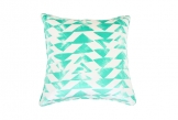 Deluxe 55cm Emerald Triangles Cushion