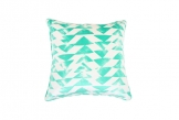 Deluxe 45cm Emerald Triangles Cushion