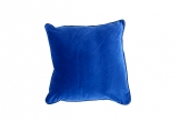Deluxe 45cm Blue Velvet Cushion