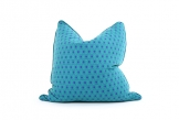 Deluxe 45cm Teal/Violet Hexagon Cushion