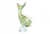 Murano Barbini Leaping Fish on Pedestal Base