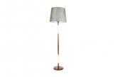 Mahogany and Brass Floor Lamp